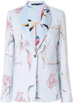 Paul Smith inverted floral print tailored blazer