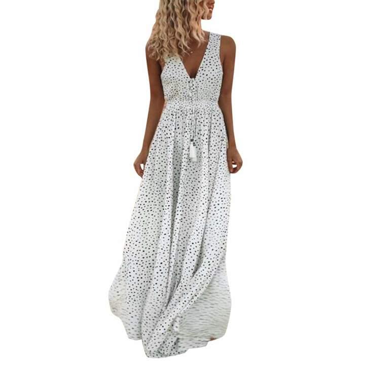 09dde30296c65 Hunzed Women Dress Fashion { Chiffon Dress } Casual { Formal Prom Evening  Dress } Lady ...