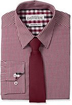 Nick Graham Everywhere Men's Micro Gingham Dress Shirt with Tie