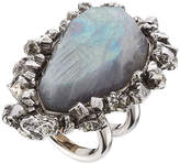 Alexander McQueen Ring with Pyrite