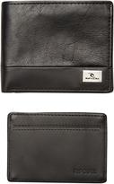 Rip Curl Block Rfid 2 In 1 Leather Wallet Black