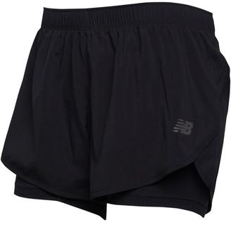 New Balance Womens Relentless 2in1 Running Shorts Black