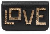 Les Petits Joueurs Handbags Micro Janis Golden Love Clutch Bag, Black