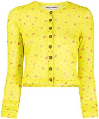 Molly Goddard floral print cardigan