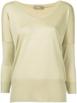 Cruciani scoop neck jumper