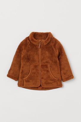 H&M Faux Shearling Jacket - Yellow