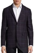 Sand Bordeau Window Pane Wool Jacket