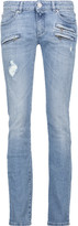 Pierre Balmain Distressed low-rise skinny jeans