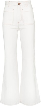See by Chloe Contrast Stitch Flared Jeans