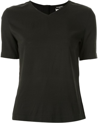Chanel Pre Owned V-neck T-shirt
