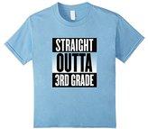 Kids Straight Outta 3rd Third Grade T-shirt Boys Girls Youth