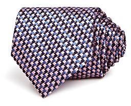 Ermenegildo Zegna Multi-Square Grid Silk Classic Tie
