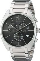 Calvin Klein Men's K2F27161 Exchange Analog Display Swiss Quartz Silver Watch