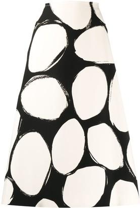 Marni graphic print A-line skirt