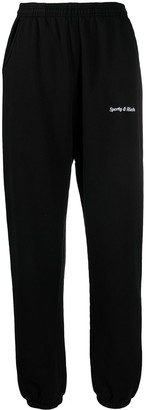 Sporty & Rich Embroidered Logo Track Pants