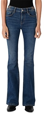 Maje Prame Flared Jeans with Horsebit Detail