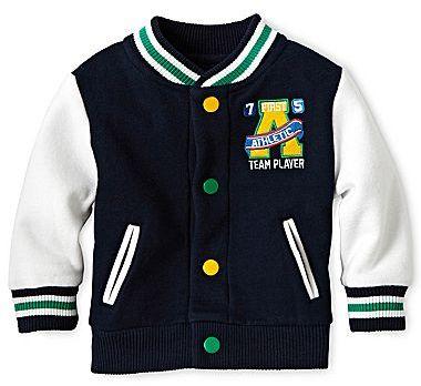 Joe Fresh Joe FreshTM Fleece Varsity Jacket - Boys 3m-24m