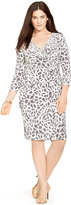 Lauren Ralph Lauren Plus Size Printed Faux-Wrap Dress