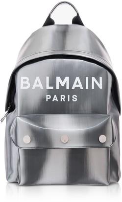Balmain B-back Led Metallic Silver Backpack