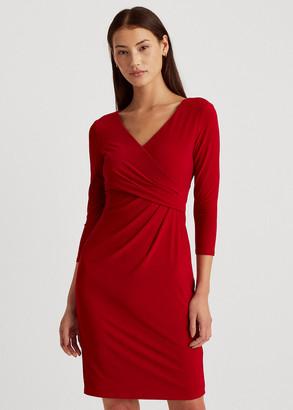 Ralph Lauren Wrap-Front Jersey Dress