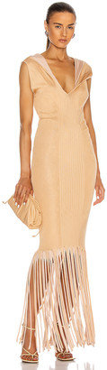 Bottega Veneta Rib Fringe Dress in Bandage | FWRD