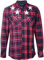 GUILD PRIME stars print checked shirt
