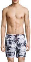 """Sundek Palm Trees 16"""" Elastic Waist Swim Shorts"""