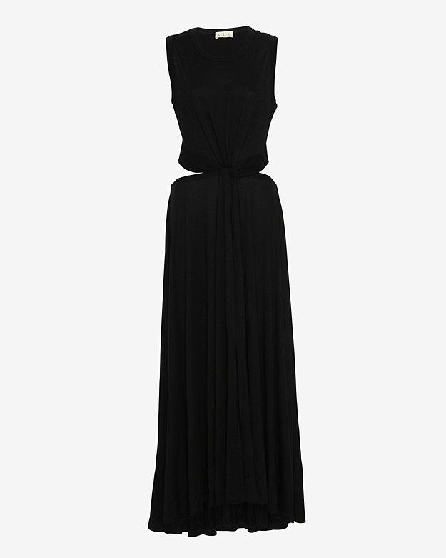 A.L.C. Twisted Knot Open Back Maxi Dress