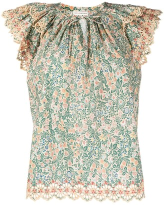 Ulla Johnson Elm floral print blouse