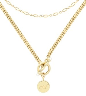 brook & york 14K Gold Plated Stella Initial Layering Necklace Set