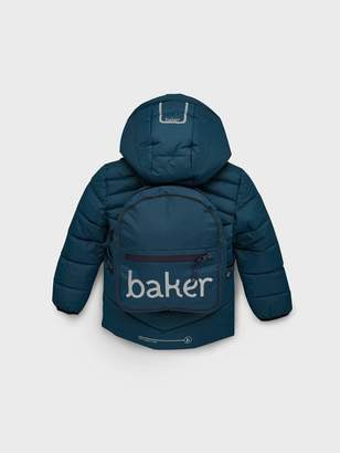 Ted Baker Toddler Boys Padded Coat And Backpack - Turquoise