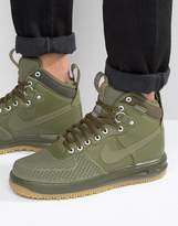 Nike Lunar Force 1 Duckboot Trainers In Green 805899-201