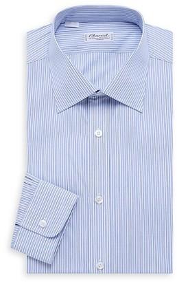 Charvet Bold Contrast Thin Stripe Shirt