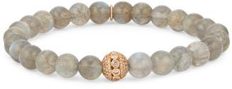 Sheryl Lowe Labradorite Bracelet with Pave Bead