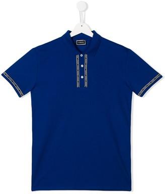 Versace TEEN logo band polo shirt