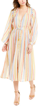 SUBOO Playhouse Balloon Sleeve Midi Dress