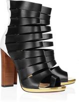 Christian Louboutin Decoupata 120 color-block leather ankle boots