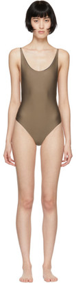 Haight Taupe Thin Strap One-Piece Swimsuit