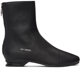 Raf Simons Black 2001-2 Zip-Up Boots