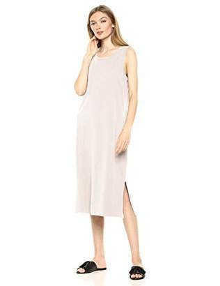 Daily Ritual Lived-in Cotton Muscle-sleeve Midi Dress Casual,(EU M - L)