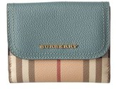 Burberry Leather & Haymarket Check Wallet.