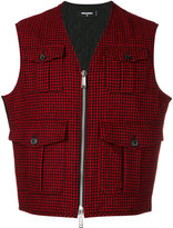 DSQUARED2 checked vest - men - Polyamide/Polyester/Polyurethane/Virgin Wool - 46