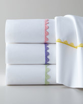 Peter Reed Queen Waves White 210TC Fitted Sheet