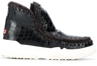 Mou Leather Slip-On Boots