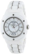 Mother of Pearl Oniss Paris Women's ON436-L WHT Galaxy Window Swiss Quartz Mother-Of-Pearl Dial Silvertone Watch