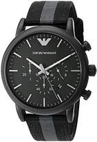 Emporio Armani Men's AR1948 Dress Black Nylon Watch