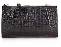 Nancy Gonzalez Women's Colette Metallic Crocodile Frame Clutch