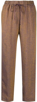 Forte Forte Textured Contrast Stitch Trousers