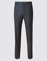 M&S Collection Tailored Fit Flat Front Trousers