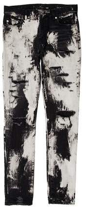 Saint Laurent 2016 D02 Distressed Bleached Skinny Jeans